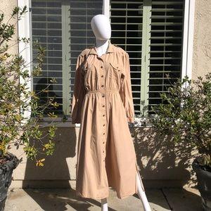 S.G.Gilbert Vintage Maxi Trench Dress/Coat Sz10
